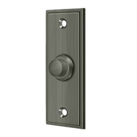 Deltana Bbs333U15A - Bell Button, Rectangular Contemporary - Antique Nickel Finish
