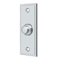 Deltana Bbs333U26 - Bell Button, Rectangular Contemporary - Polished Chrome Finish