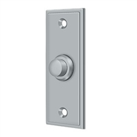 Deltana Bbs333U26D - Bell Button, Rectangular Contemporary - Brushed Chrome Finish