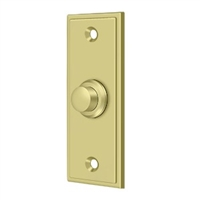 Deltana Bbs333U3 - Bell Button, Rectangular Contemporary - Polished Brass Finish