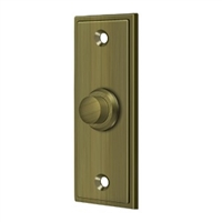 Deltana Bbs333U5 - Bell Button, Rectangular Contemporary - Antique Brass Finish