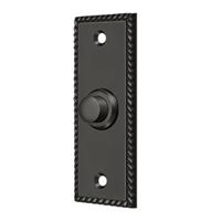 Deltana Bbsr333U10B - Bell Button, Rectangular Rope - Oil-Rubbed Bronze Finish