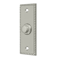 Deltana Bbsr333U15 - Bell Button, Rectangular Rope - Brushed Nickel Finish