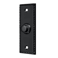 Deltana Bbsr333U19 - Bell Button, Rectangular Rope - Paint Black Finish