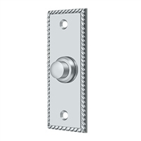 Deltana Bbsr333U26 - Bell Button, Rectangular Rope - Polished Nickel Finish
