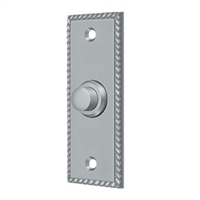 Deltana Bbsr333U26D - Bell Button, Rectangular Rope - Brushed Chrome  Finish
