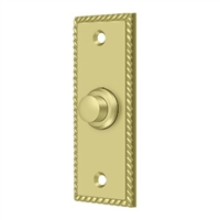 Deltana Bbsr333U3 - Bell Button, Rectangular Rope - Polished Brass Finish