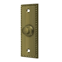Deltana Bbsr333U5 - Bell Button, Rectangular Rope - Antique Brass Finish