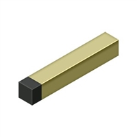 "Deltana Bdss40U3-Unl - 4"" Modern Square Baseboard Bumper, Solid Brass - Unlacquered Brass Finish"