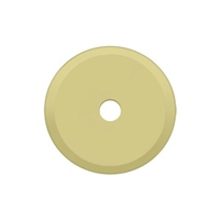 "Deltana Bprk125U3 - Base Plate For Knobs, 1-1/4"" Diam. - Polished Brass Finish"