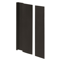 Prime Line C 1063 Door Cover Plate And Pull, Black Finish