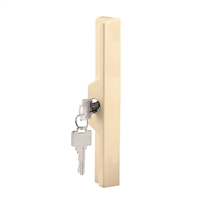 Prime Line C 1121 Sliding Door Outside Pull With Key, Almond Diecast