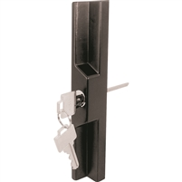 Prime Line C 1139 Sliding Door Outside Pull With Key, Black Diecast, Adam, W And F