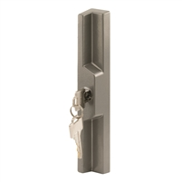 Prime Line C 1158 Sliding Door Outside Pull With Key, Grey Diecast