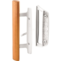 Prime Line C 1204 Sliding Glass Door Handle Set, 3-15/16 -Inch, Diecast, White, Mortise/Hook Style
