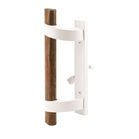 Prime Line C 1219 Sliding Door Handle With Mortise Lock, White