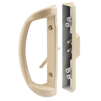 Prime Line C 1327 Sliding Door Handle, Mortise Style, Almond
