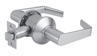 DORMA C340LRB626238N - C340 PRIVACY BEDROOM OR BATH LOCK, LR LEVER, 2-3/8 IN BACKSET NON FIRE RATED LATCH, 1 IN RADIUSED, 626 SATIN CHROME