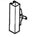 Calibre Cdc-7085-1-48 Concealed Vertical Rod, Unit Exit Only, No Outside Hardware