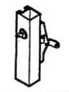 Calibre Cdc-7085-2-48 Concealed Vertical Rod, Unit With Cylinder And Cylinder Mounting Pad