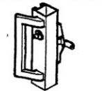 Calibre Cdc-7085-4-48 Concealed Vertical Rod, Unit With Cylinder, Cylinder Mounting Pad, And Ph-1000E Outside Pull Handle