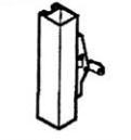 Calibre Cdc-9100-1-36 Concealed Vertical Rod, Unit Exit Only, No Outside Hardware