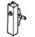 Calibre Cdc-9100-2-48 Concealed Vertical Rod, Unit With Cylinder And Cylinder Mounting Pad