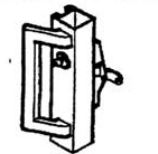 Calibre Cdc-9100-4-48 Concealed Vertical Rod, Unit With Cylinder, Cylinder Mounting Pad, And  Ph-1000E Outside Pull Handle