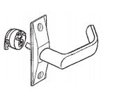 "Calibre Cdc-Lh-4500 Lever Handle Set, Complete W/ Cam Plug, Return End Type, 1/2"" Door Clearance, Left/ Right-Handed"