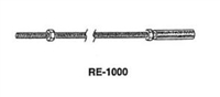 "Calibre Cdc-Rf-2000-Rm 12""- Special Flushbolt Rod With 1/2"" Solid Round Steel Rod Tip, Measuring 1/4-20 X 12"""