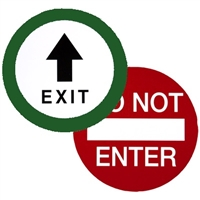 """Exit"" / ""Do Not Enter"" Double Sided Decal"