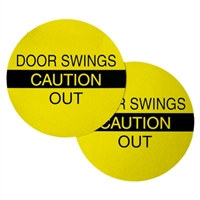 """Caution Door Swings Out"" Double Sided Decal"