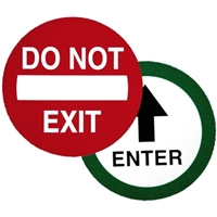 """Do Not Exit"" / ""Enter"" Double Sided Decal"
