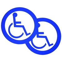 Ada Handicap Logo Double Sided Decal