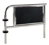 "37"" Height X 42"" Length Stainless Steel Tubular Guide Rail With Royalite Panel"