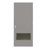 "CE1844-3070-VLV2412 - 3'-0"" x 7'-0"" Ceco Hinge Commercial Hollow Metal Steel Door with 24"" x 12"" Inverted Y Blade Louver Kit, 86 Mortise Edge Prep, 18 Gauge, Polystyrene Core"