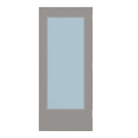 "CEG1824-3068-SVL2464 - 3'-0"" x 6'-8"" Ceco Hinge Commercial Hollow Metal Steel Door with 24"" x 64"" Low Profile Beveled Vision Lite Kit, Blank Edge with Reinforcement, 18 Gauge, Polystyrene Core"