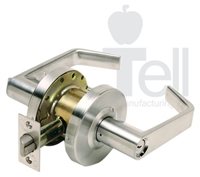 "Tell Cl101028, Lc2600 Series Cortland Lockset, Single Dummy Function, Us26D, 2-3/4"" Backset, (1 Year Warranty)"