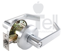 "Tell Cl102277, Lc2600 Series Beacon Lockset, Single Dummy Function, Us26D Satin Chrome, 2-3/4"" Backset, (1 Year Warranty)"