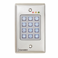 Camden Door Controls Cm-120Tx: Outdoor, Vandal Resistant, Metal Backlit Keypad, 999 Users, Battery Operated, Wireless Transmitter Included