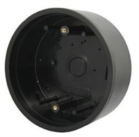 "Camden Door Controls Cm-47S: Surface, Round, Standard Depth, Provision For Wireless. Flame And Impact Resistant Black Polymer (Abs), 5"" X 2-18"" D (Used On Cm-40 Switches)"