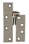 Global Door Controls Cp-Rplh-26D Left Hand Reinforcing Hinge In Satin Chromium Plated