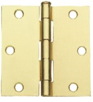 "(Set Of 2) Global Door Controls Cp3535-Us3, 3.5""X3.5"" Residential Steel Hinge In Bright Brass"
