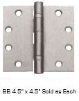 "Global Door Controls Cp4545Bb-26 Bb 4.5"" X 4.5"" Sold As Each In Bright Chromium Plated"
