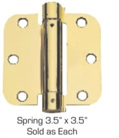 "Global Door Controls Cps3535-Us3 3.5"" X 3.5"" Full Mortise Spring Hinge In Bright Bass"