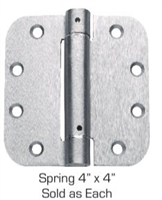 "Global Door Controls Cps4040-Us4 4"" X 4"" Full Mortise Spring Hinge In Satin Brass"
