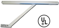 "Cal-Royal Cr552S: Surface Mount Overhead Door Stop - Size 2, 23 1/16"" - 27"", For 2'-0"" Butt Hinge /Offset Door"