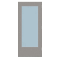 "CU1813-3068-SVL2464 - 3'-0"" x 6'-8"" Curries Hinge Commercial Hollow Metal Steel Door with 24"" x 64"" Low Profile Beveled Vision Lite Kit, 161 Cylindrical Lock Prep, 18 Gauge, Polystyrene Core"