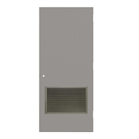 "CU1813-3068-VLV2418 - 3'-0"" x 6'-8"" Curries Hinge Commercial Hollow Metal Steel Door with 24"" x 18"" Inverted Y Blade Louver Kit, 161 Cylindrical Lock Prep, 18 Gauge, Polystyrene Core"