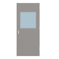 "CU1818-3068-SVL2424 - 3'-0"" x 6'-8"" Curries Hinge Commercial Hollow Metal Steel Door with 24"" x 24"" Low Profile Beveled Vision Lite Kit, 86 Mortise Edge Prep, 18 Gauge, Polystyrene Core"